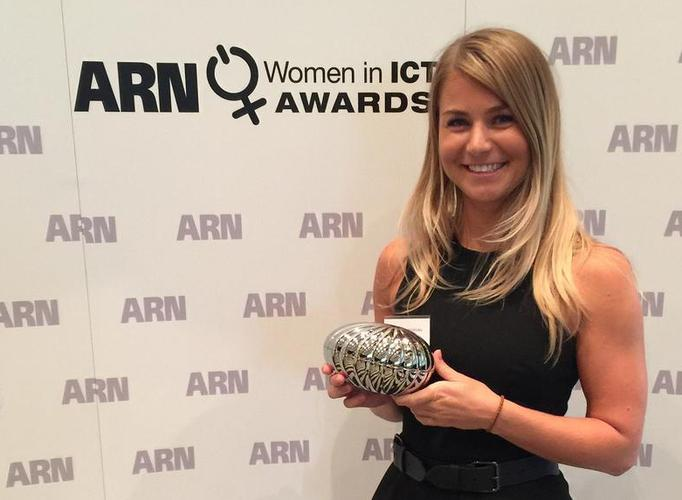 Aggie Szemplinska after winning the Rising Star Award at the 2014 ARN Women in ICT Awards