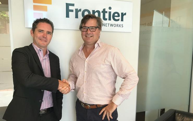 Alan Brannigan (L) and David Waldie (R), managing director and co-founder of Frontier Networks