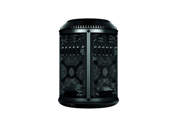 Apple's Mac Pro has components tightly organized in a cylindrical chassis. Credit: Apple