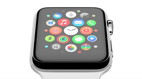 The Apple Watch home screen