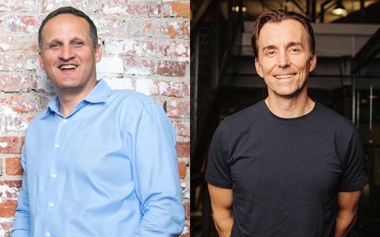 Adam Selipsky (CEO - AWS) and Zig Serafin (CEO - Qualtrics)