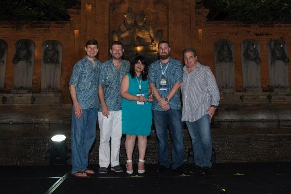 The team that attended the Sophos conference to receive the award