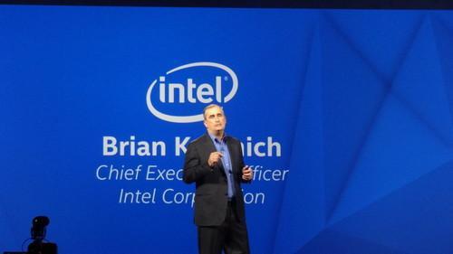 Intel's Brian Krzanich during keynote at 2015 CES