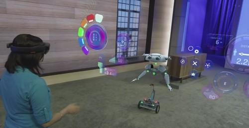 Microsoft's B15 holographic robot screen capture