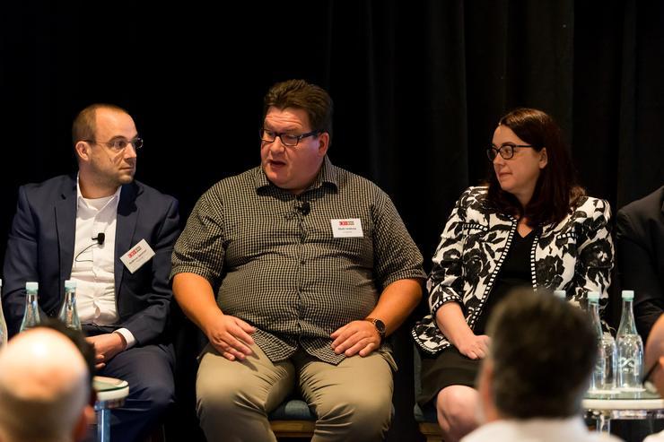 Matti Seikkula, centre, at a CIO100 event in Auckland.