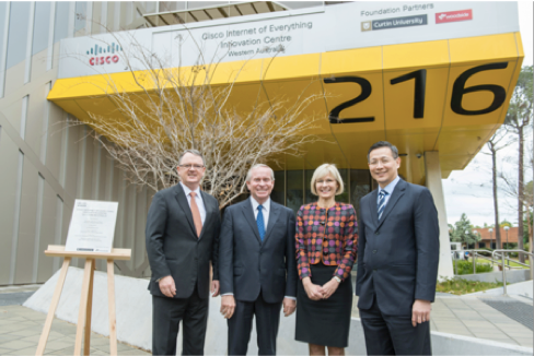 Outside the Cisco IoE Innovation Centre at Curtin's Bentley campus