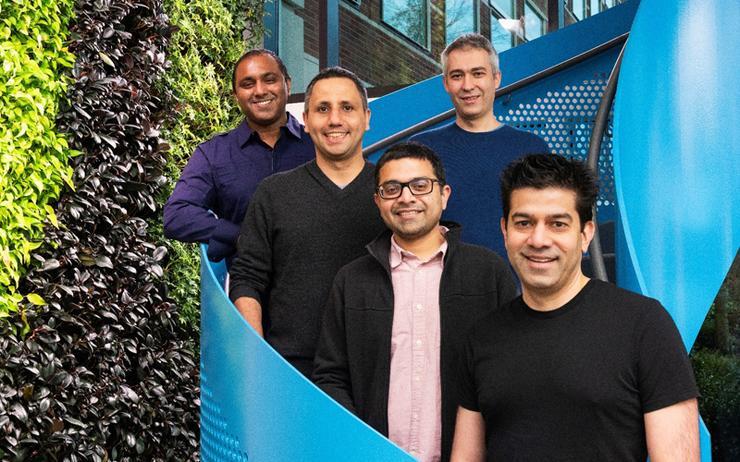 L-R: Sudhakar Sannakkayala (Microsoft); Ozgun Erdogan (Citus Data); Umur Cubukcu (Citus Data); Sumedh Pathak (Citus Data) and Rohan Kumar (Microsoft)