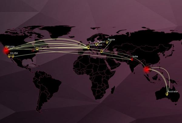 Check Point's world cyber threat map