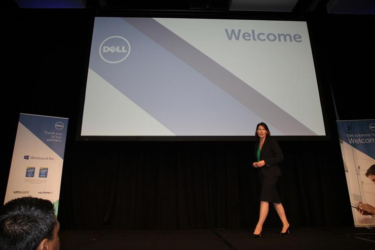 Dell managing director A/NZ, Angela Fox at the Dell Solutions Tour in Melbourne.