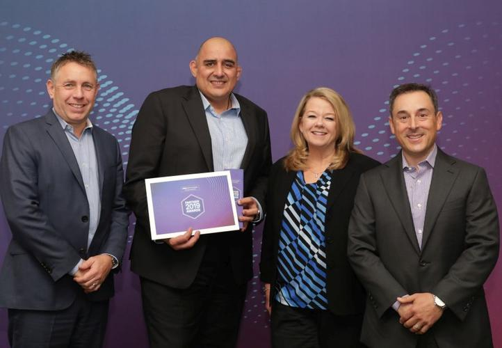 From left: Phil Patton, Mark Muru (Datacom), Tami Booth, Jay Snyder (Dell Technologies)