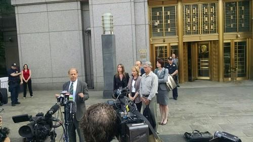 Joshua Dratel, the attorney representing convicted Silk Road mastermind Ross Ulbricht, speaks outside a federal courthouse in Manhattan following sentencing on May 29, 2015.