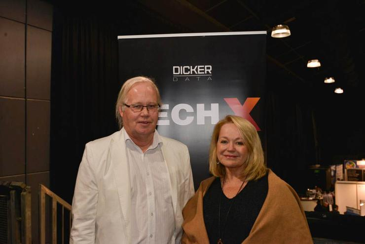 David Dicker, CEO and chairman, Dicker Data with Susan Searle, president, IDG channel division at Dicker Data's Tech X roadshow