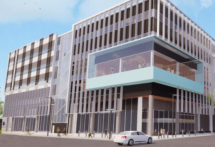 An architect's concept of a day surgery/outpatients building in the new Dunedin Hospital.