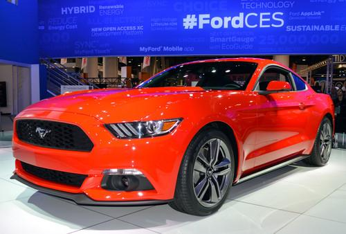 The 2015 Mustang saw its first public appearance at CES.