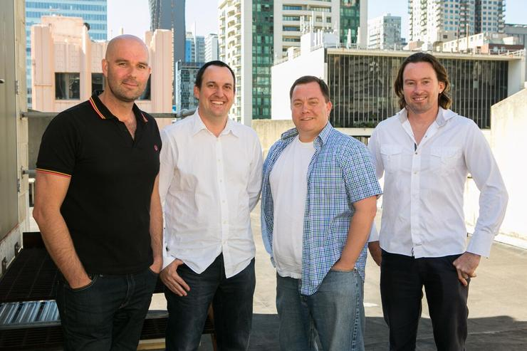 Versent founders James Coxon, Eddie Smith, Thor Essman and Hamish Toll