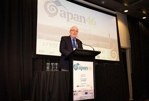 Acting REANNZ CEO Gerrit Bahlman at the Asia Pacific Advanced Network conference