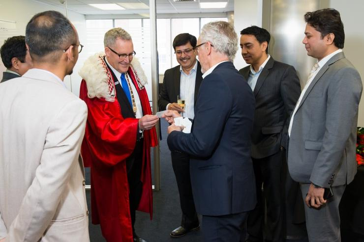 The Mayor of Hamilton, Andrew King, opened HCL's new global delivery centre in the city yesterday.