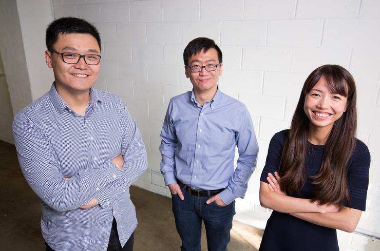 Hyper Anna founders Sam Zheng, Kent Tian and Natalie Nguyen