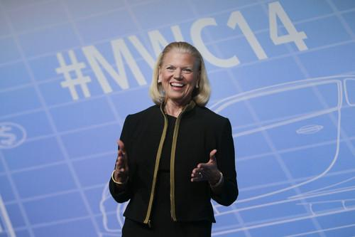 IBM CEO Ginni Rometty took to the Mobile World Congress stage Wednesday to announce a global competition to encourage developers to create mobile consumer and business apps powered by its Watson supercomputer platform.