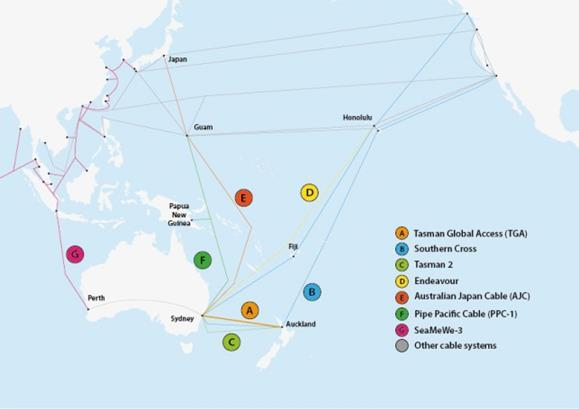 The new Tasman Global Access cable is New Zealand's second major international fibre-optic link to the world.