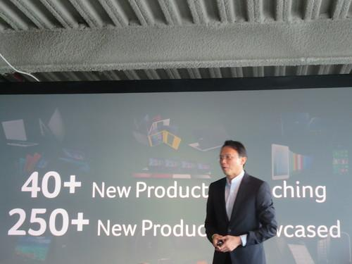 Acer's CEO Jason Chen at press conference in New York