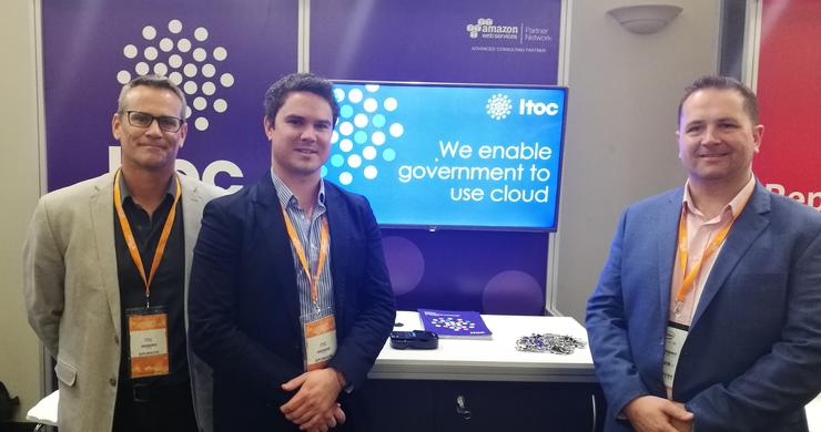 ITOC CEO, Richard Steven (right) with other members of the ITOC team