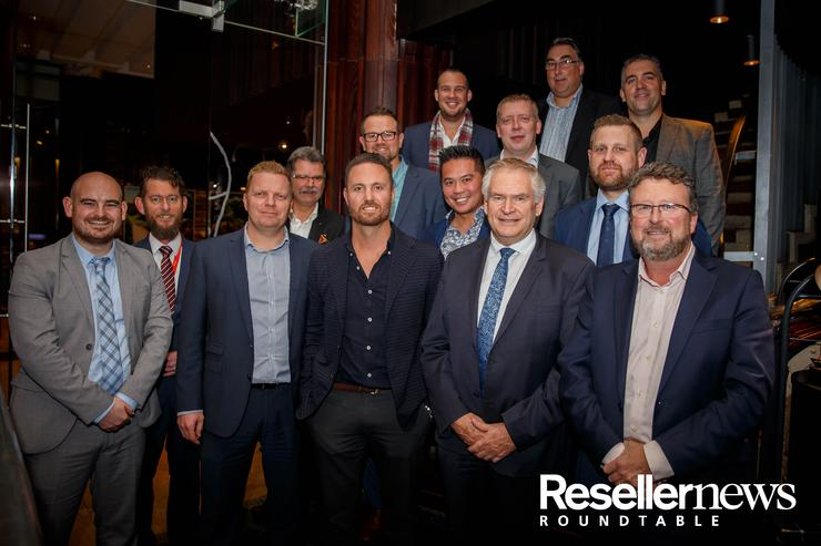 L-R - James Henderson (Reseller News); Jason Diack (Fujitsu); David Hook (Fujitsu); Gerhard Nagele (Vodafone); Michael Russell (Origin IT); Richard Rogers (F5 Networks); Kenny Van Blerk (Connector Systems); Alex Teh (Exclusive Networks); Richard Lightfoot (Tech Data); Jon Waite (CCL); Mark Stuart (SonicWall); Mark Ellis (Datacom); Jon Fox (Sophos) and Greg Mikkelsen (SecureCom)
