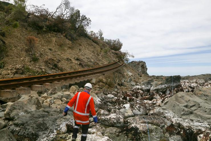 The Kaikoura earthquakes in 2016 took out both the main trunk line and the fibre cable along it.
