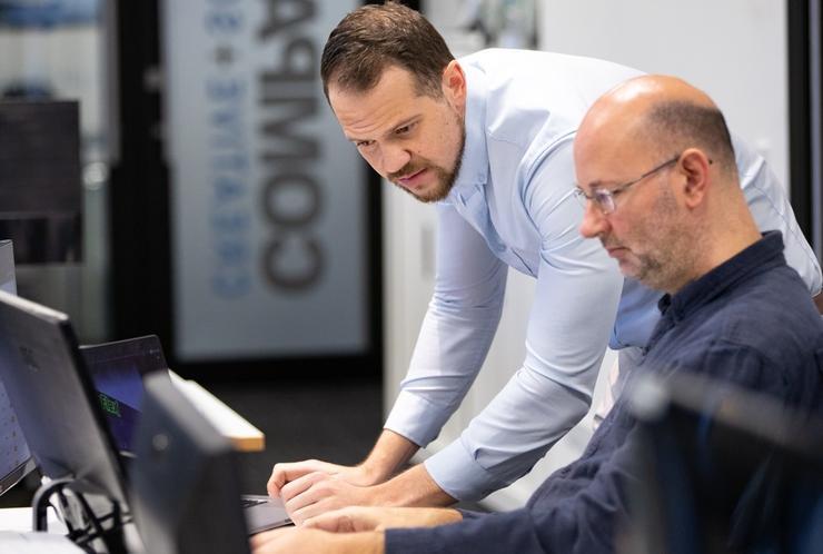 Senior software developers Arno van Niekerk, left, and Rob Scovell (Company-X)