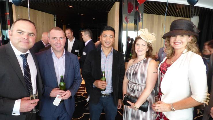 John Beaumont (Left) at Commvault's Melbourne Cup event in Sydney