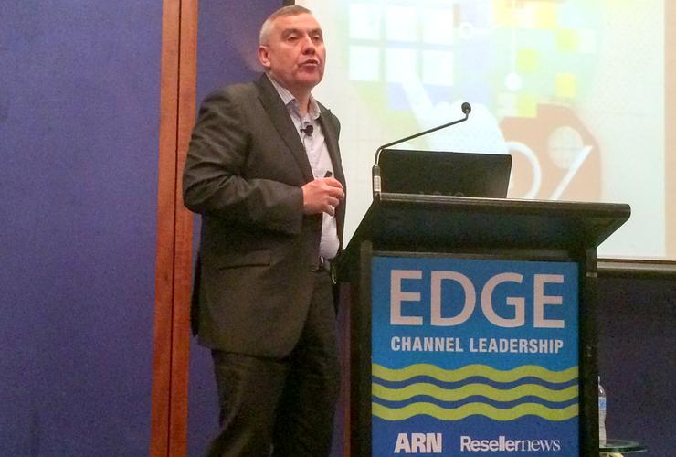 Bernie Brookes delivers his keynote at EDGE 2015