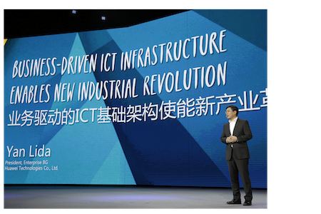 Huawei Technologies president of enterprise business, Yan Lida