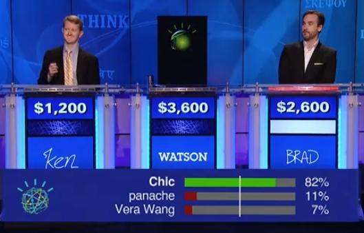 IBM's Watson takes on Jeopardy champs and wins.