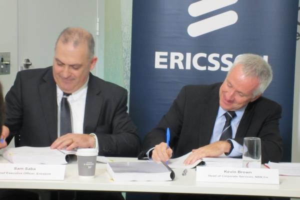 Ericsson and NBN Co sign agreement.