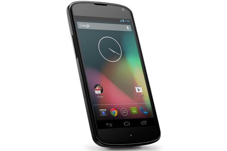 The Google Nexus 4.
