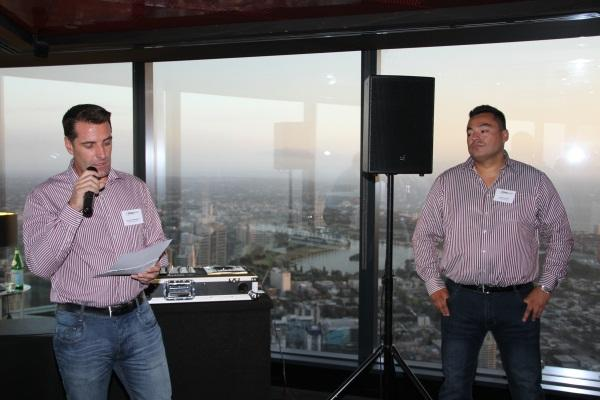 WhiteGold's Dominic Whitehand and Jonathan Odria announce the winners