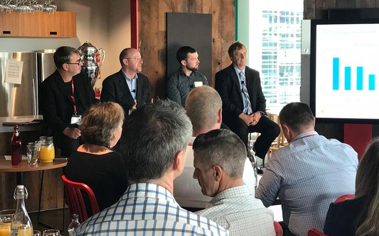 Microsoft and IDC representatives were joined by Auckland Transport CIO Roger Jones on a round table discussing digital transformation earlier this month.