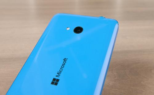 The Lumia 640 is housed in a slick plastic chassis that can feel too slippery at times