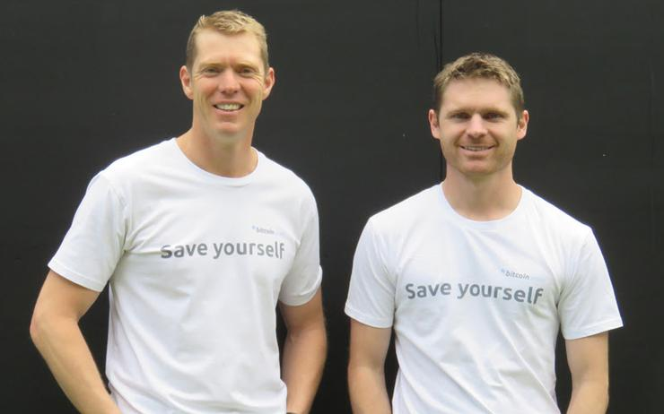 MyBitcoinSaver CEO Sam Blackmore (left) and COO Matt Gibson have closed a $400k seed round