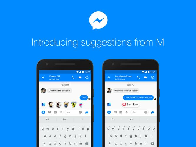 Facebook's M assistant launches in US, will offer chat suggestions
