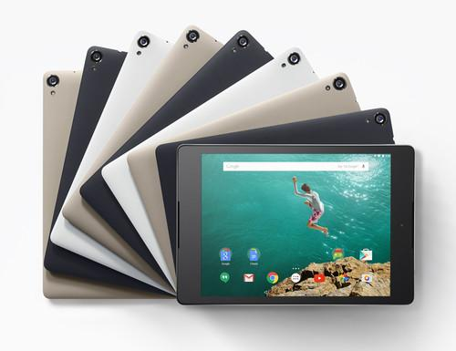 The Nexus 9 comes in a variety of colors!