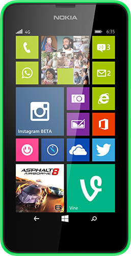 The Nokia Lumia 635 has a 4.5-inch screen.