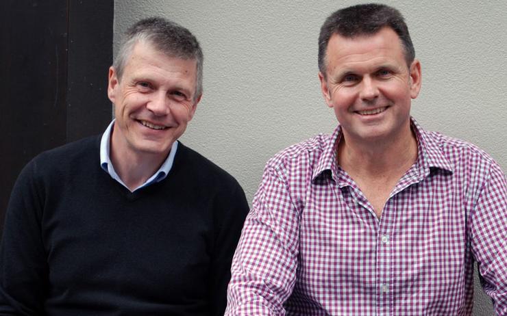 Grant Rimmer (NZWineMetrics) and Geoff Wilson (NZWineMetrics)