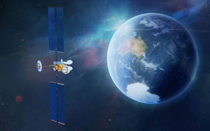 An artist impression of the new satellite