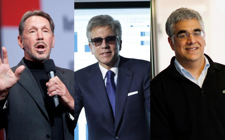 Larry Ellison (CEO - Oracle); Bill McDermott (CEO - SAP) and Aneel Bhusri (CEO - Workday)