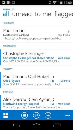 Microsoft's Outlook Web app for Android.