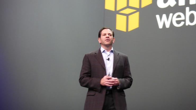Amazon Web Services vice president channels and alliances, Terry Wise delivering the partner keynote