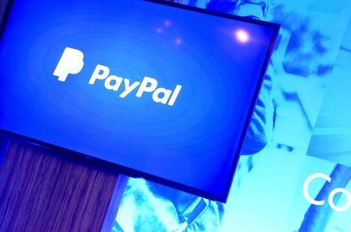 PayPal's logo.