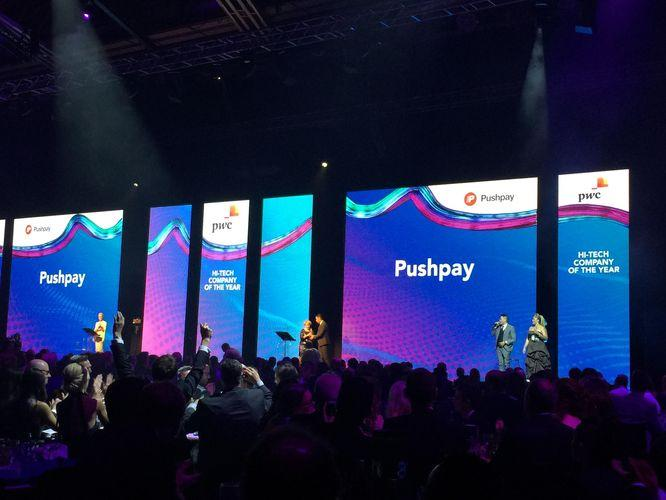Pushpay was the big winner at the 2017 Hi-Tech Awards, held in Auckland.