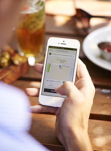 Uber's ride-hailing app